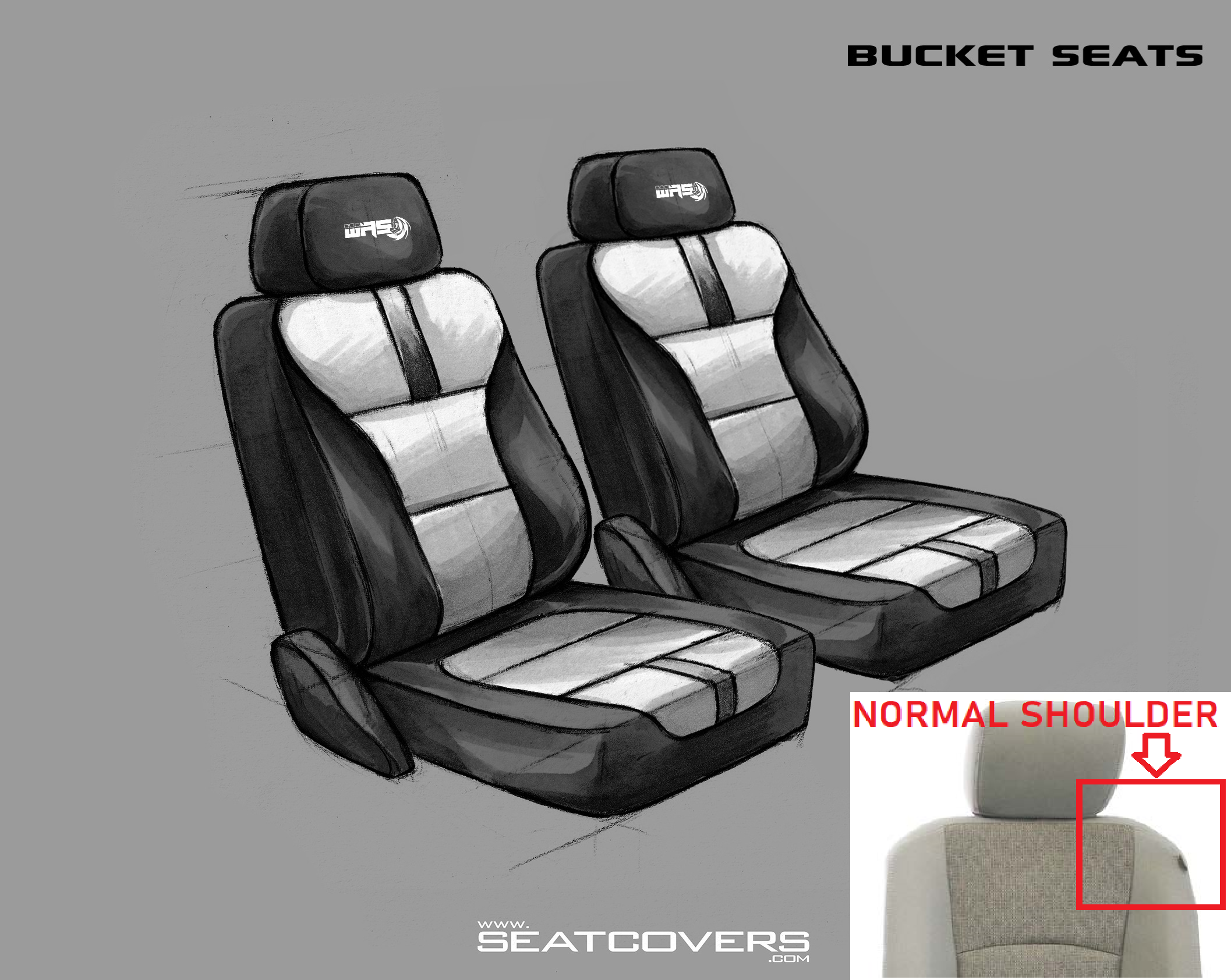 2 Bucket Seats (colored) (Dodge NORMAL Shoulder Bolster) D0708