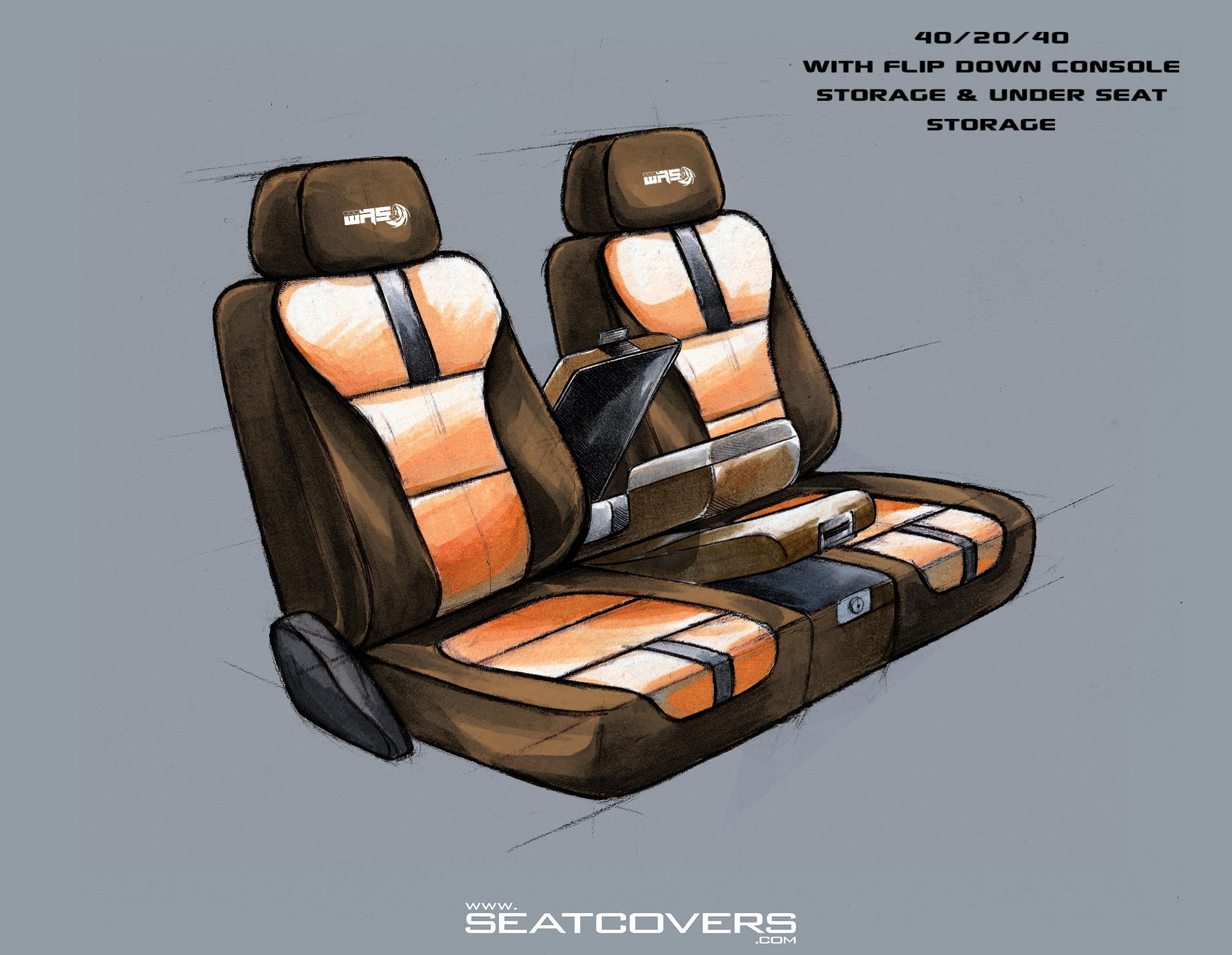 2019 SIERRA SILVERADO 1500, 2020 SIERRA SILVERADO HD – Front Seat Covers www.seatcovers