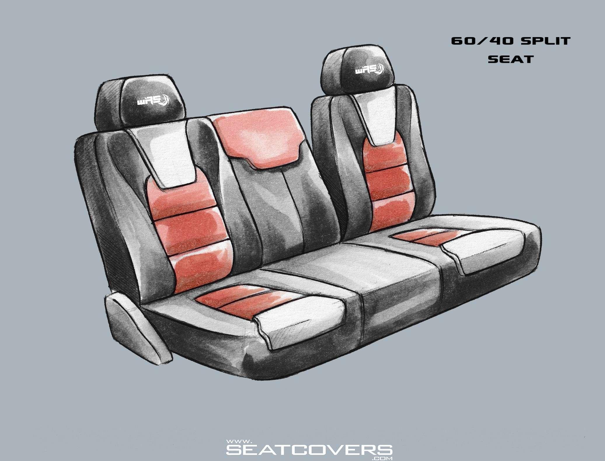 Toyota Tacoma rear seat covers Tacoma seat covers www.seatcovers.com