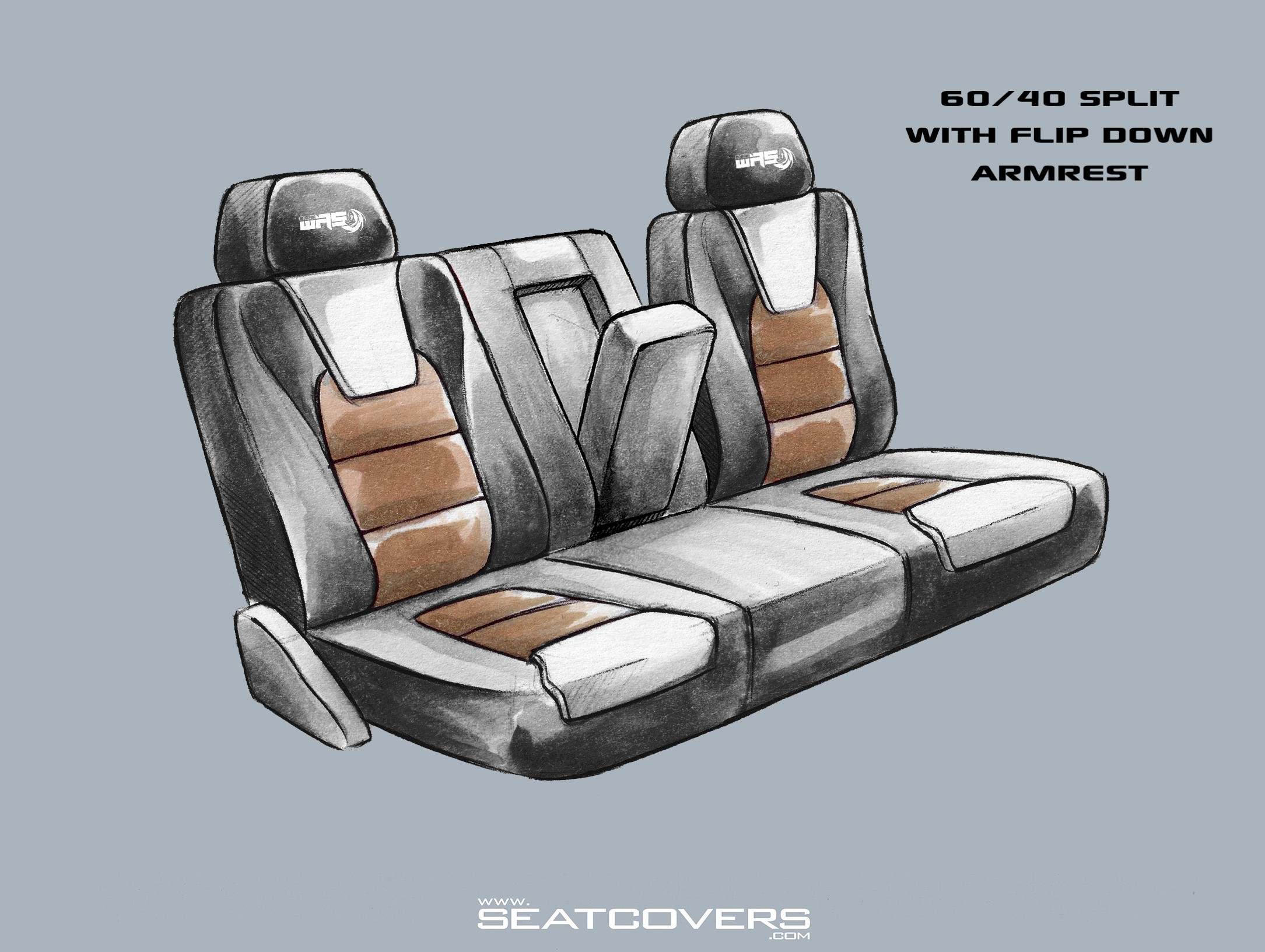 Jeep Wrangler seat covers 60:40 rear seats seatcovers.com