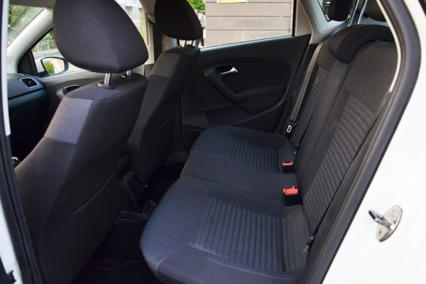 Back seats of a subcompact car